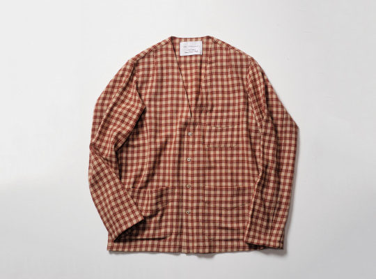 BLACKBIRD – editor's jacket / cream*red check –