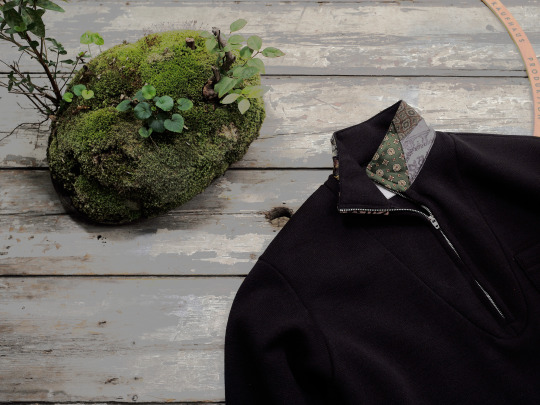 BLACKBIRD / kodiak halfzip sweater
