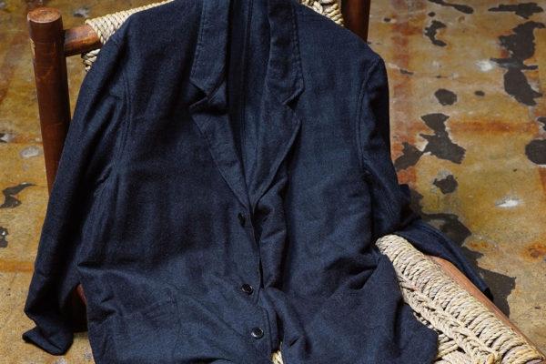COMOLI – ウールシルク ジャケット , ドローストリング パンツ