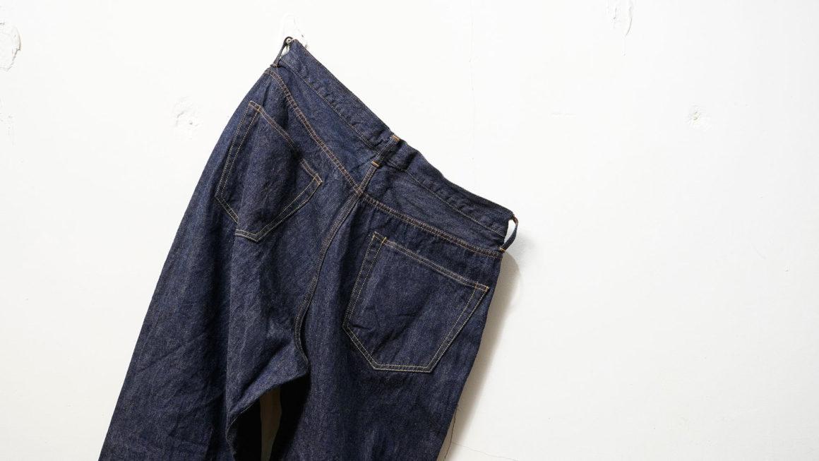 COMOLI-デニム 5P パンツ のサイズ感