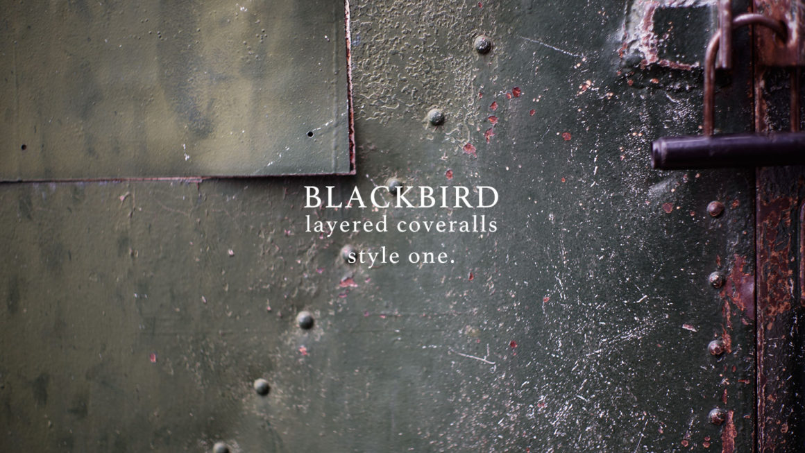 """BLACKBIRD """"layered coveralls """" style one."""