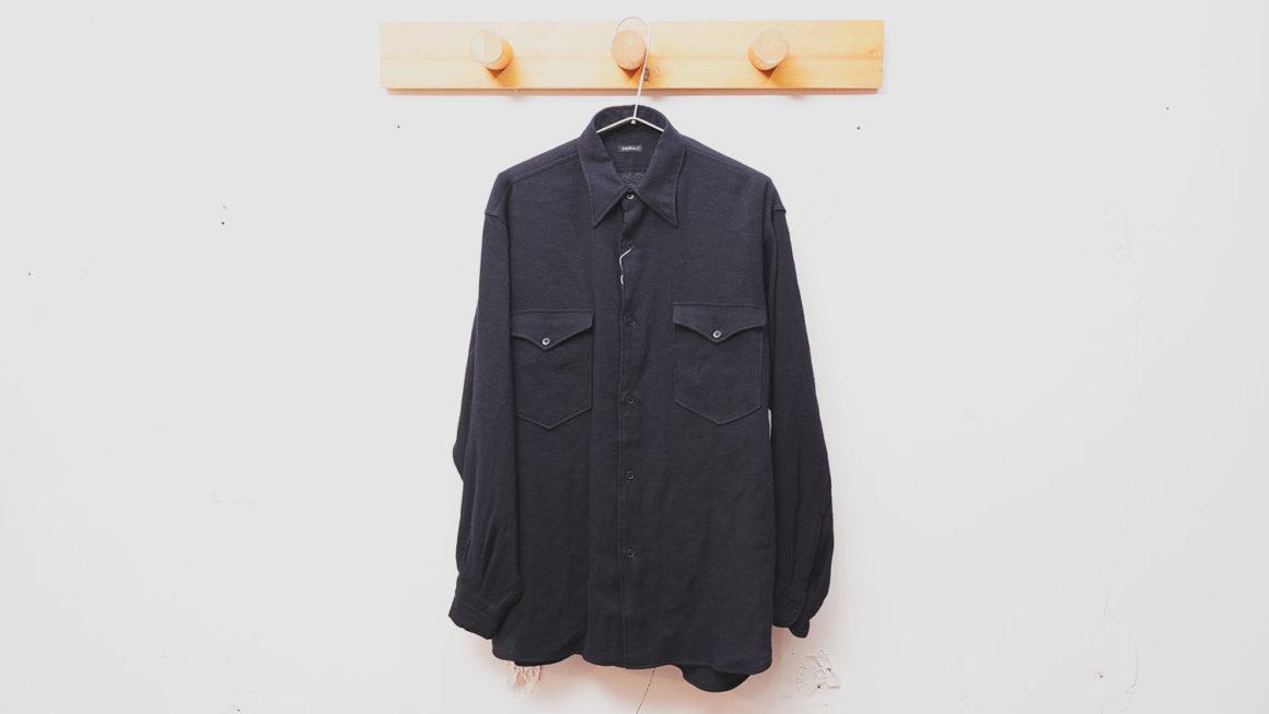 COMOLI – カシミヤ和紙 ワークシャツ –